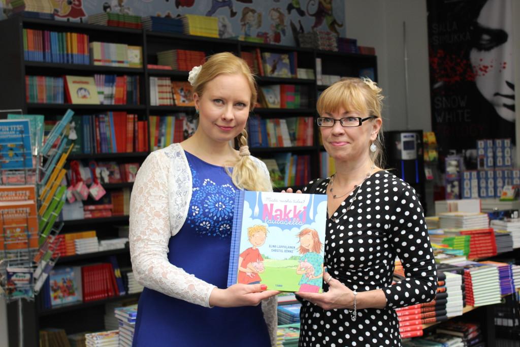 Nakki lautasella on Elina Lappalaisen ensimmäinen lastenkirja mutta Christel Rönnsillä on kokemusta jo yli 60 kirjasta.