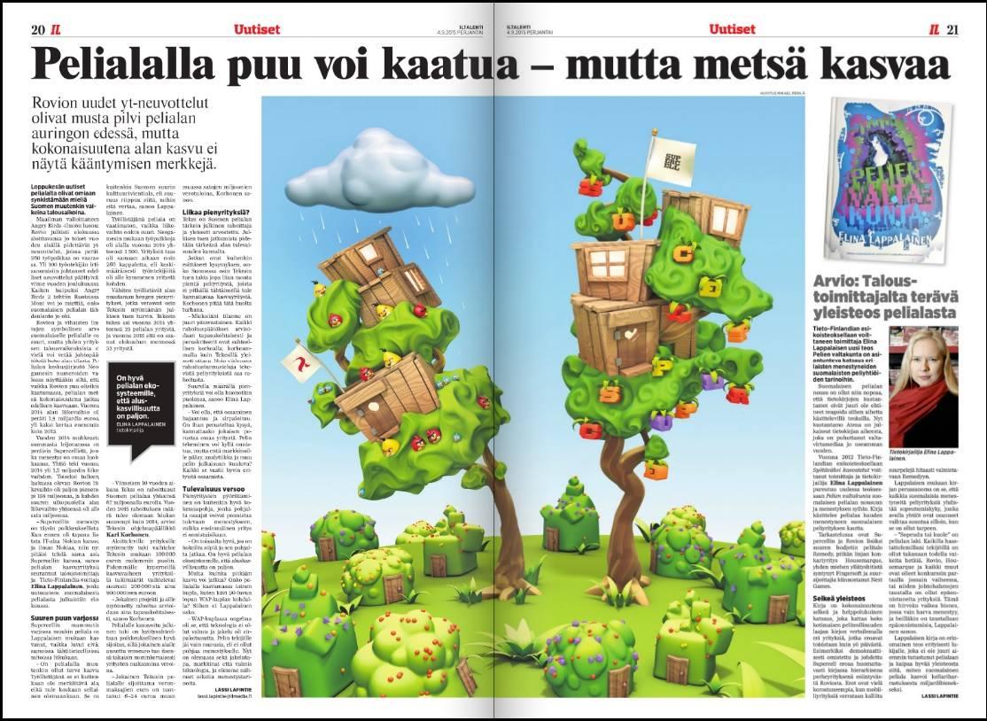 Pelien valtakunta Iltalehdessä.
